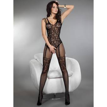 Livia Corsetti Temperance Crotchless Floral Lace Bodystocking