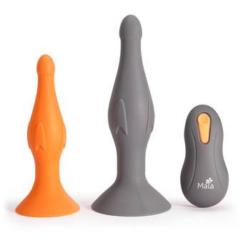 Maia Ethan Extra Quiet Remote Control Vibrating Butt Plug Set