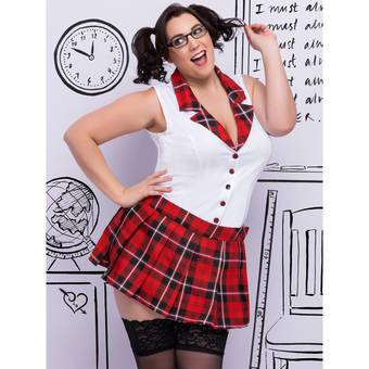 Lovehoney Fantasy Plus Size Sexy Schoolgirl Costume