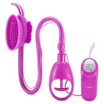 Vibrating Silicone Butterfly Clitoral Pump with Teasing Ticklers