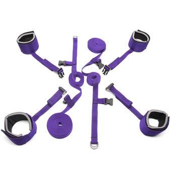 Purple Reins Beginners Under Bed Restraint Set