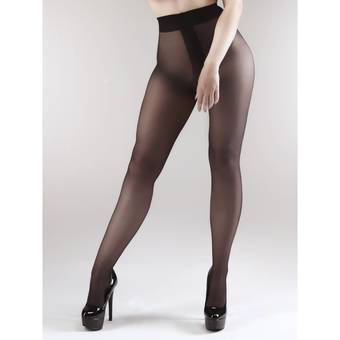 Miss Naughty Opaque Crotchless Tights