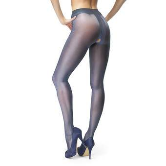 MissO 20 Denier Dark Blue Crotchless Tights