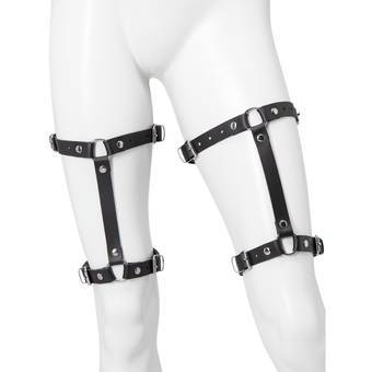 DOMINIX Deluxe Leather Leg Harness (2 Pack)