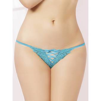 Seven 'til Midnight Turquoise Lace Up G-String