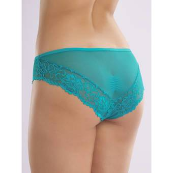 Lovehoney Flirty Teal Lace and Mesh Knickers