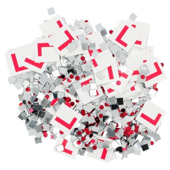 L Plate Table Confetti