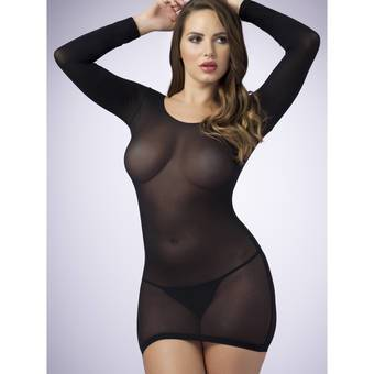 Lovehoney Long Sleeve Black Mini Dress