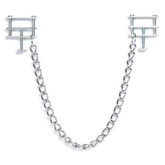 DOMINIX Deluxe Adjustable Thumbscrew Nipple Clamps with Chain