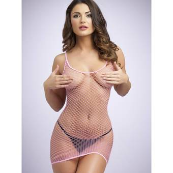 Lovehoney Pink Fishnet Mini Dress