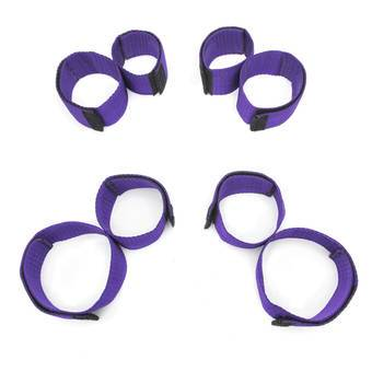Purple Reins Double Leg and Arm Restraint Set