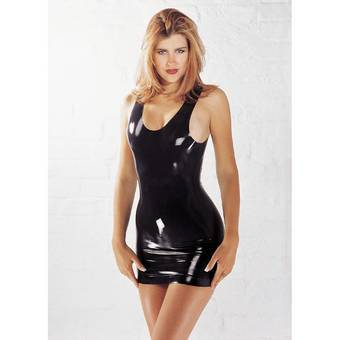 Mini robe en latex