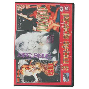 3 Movie Special Erotic DVD - Crazed Exile
