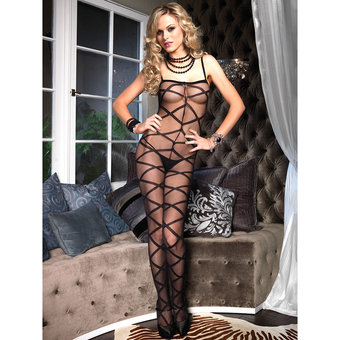 Leg Avenue Crotchless Criss Cross Bodystocking