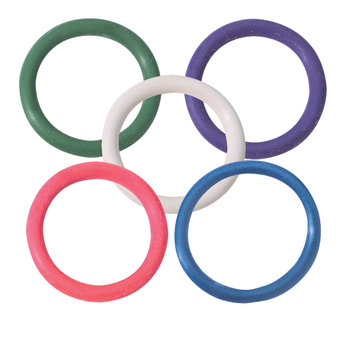 Spartacus Rainbow Rubber Cock Ring Mulitpack 1.25 Inch (5 Pack)