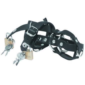 Spartacus Leather Locking Chastity Cage
