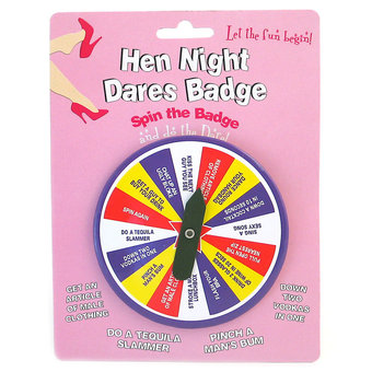 Hen Night Badge Dares Game