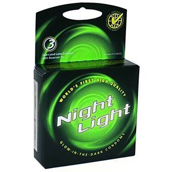 Love Light Glow In The Dark Condoms (3 Pack)