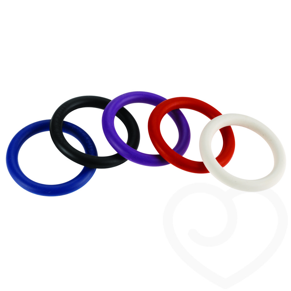 Spartacus Nitrile Cock Ring Multipack 1.25 Inch (5 Pack)