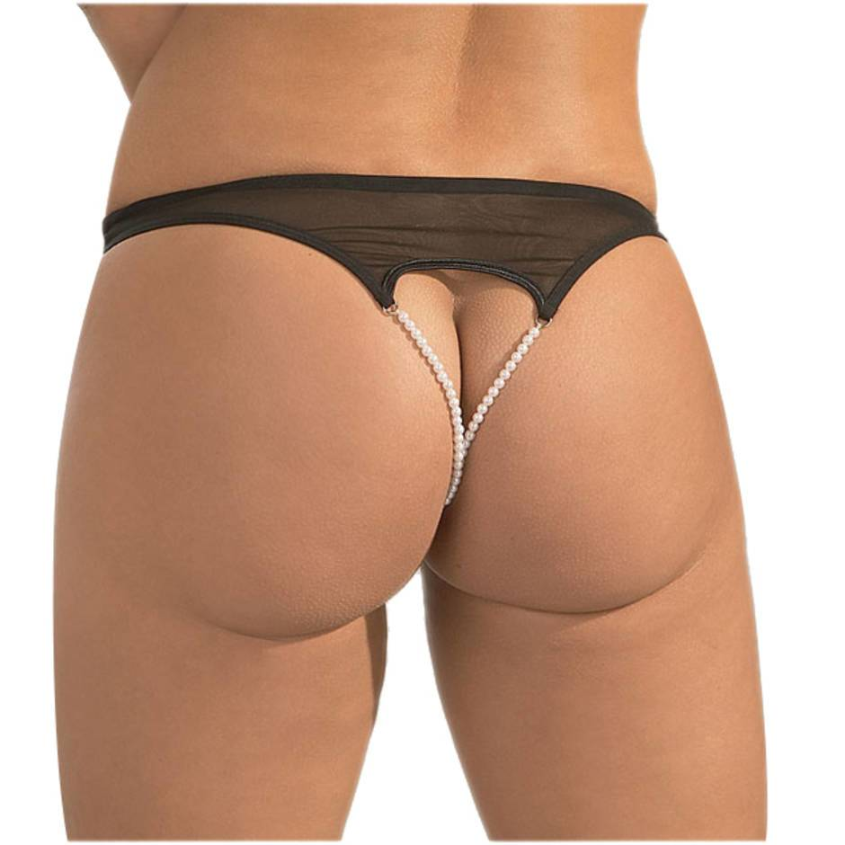 Cottelli Double Pearl Crotchless Briefs