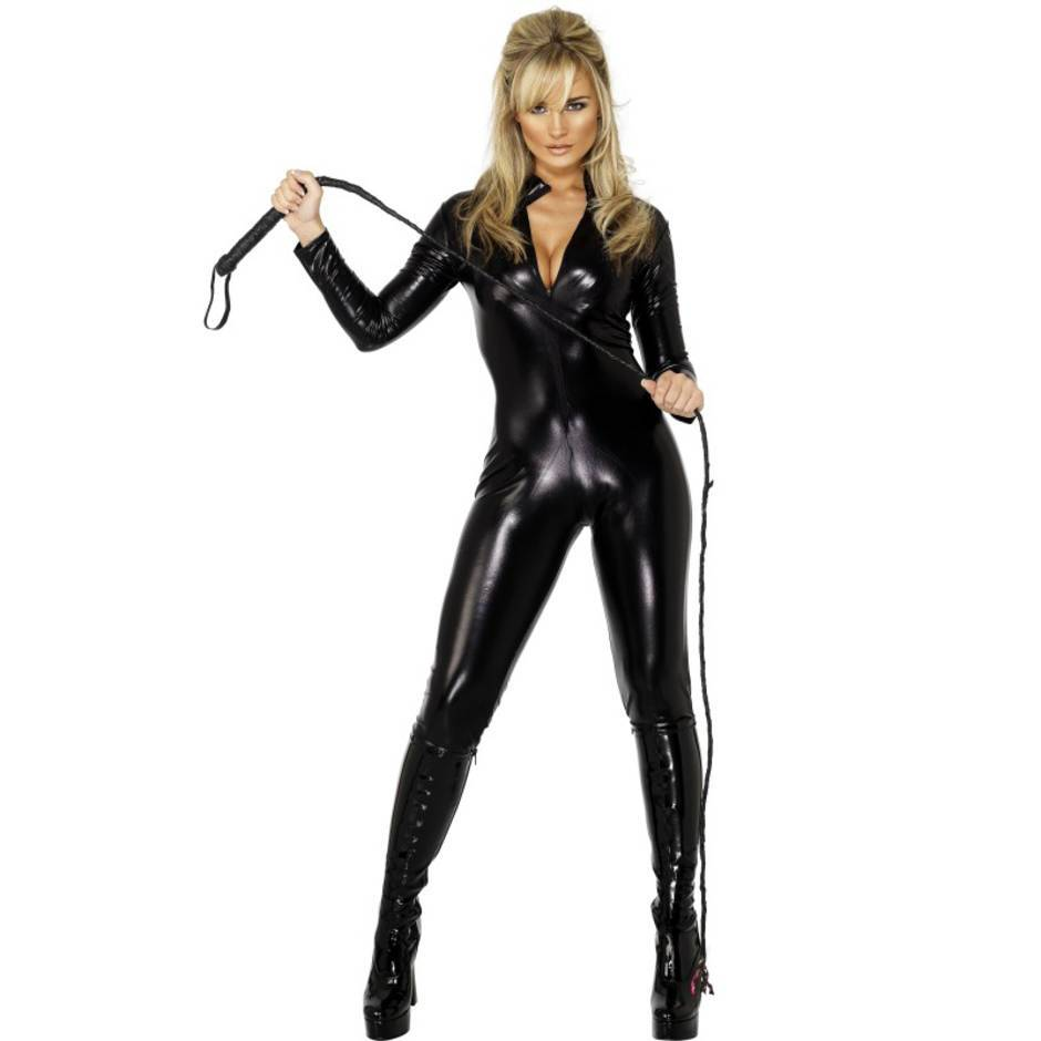 Fever Miss Whip Lash Wet Look Catsuit