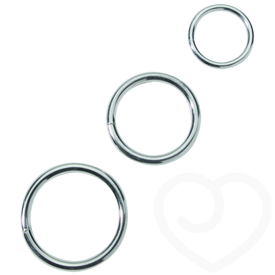 Spartacus Nickel Plated Metal Cock Ring Set (3 Pack)