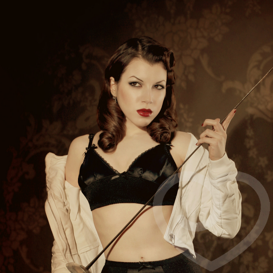 Kiss Me Deadly Delacroix Silk Bra