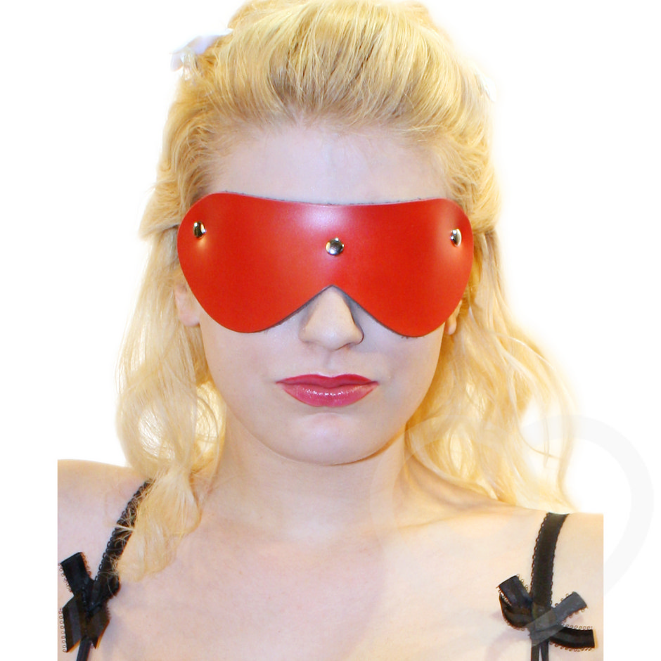 Bondage Boutique Advanced Leather Blindfold with Studs