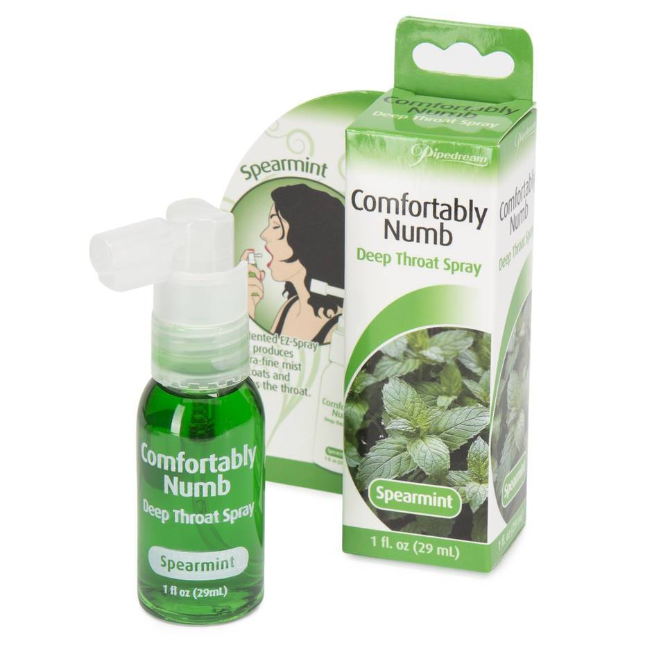 Comfortably Numb Spearmint Deep Throat Spray 1 fl. oz