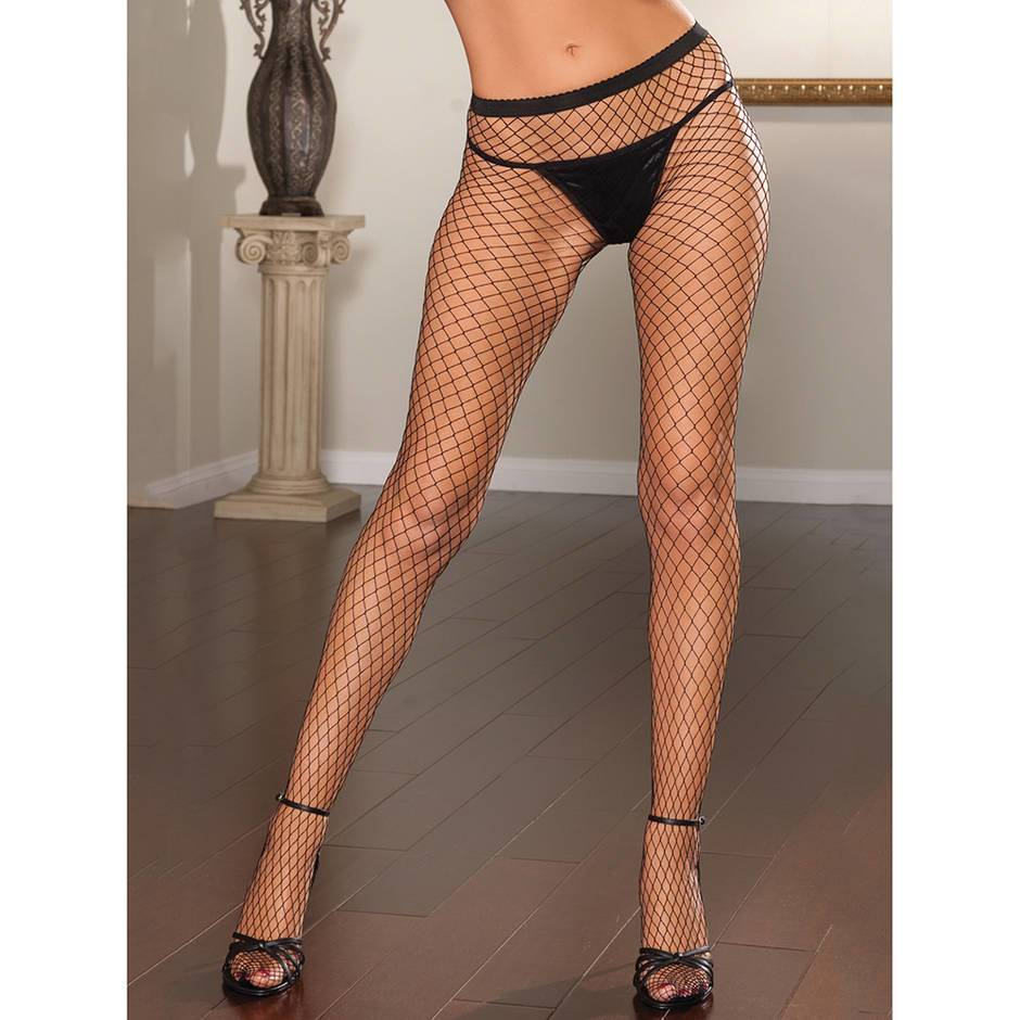 Seven 'til Midnight Diamond Fishnet Tights