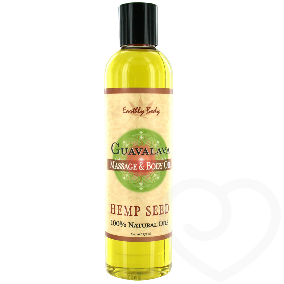 Earthly Body Guavalava Massage Oil 236ml