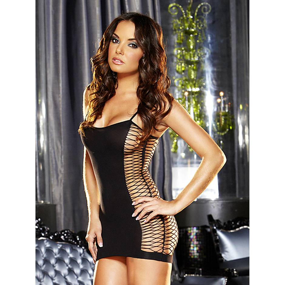 Lapdance Pop'N Lock Mini Dress