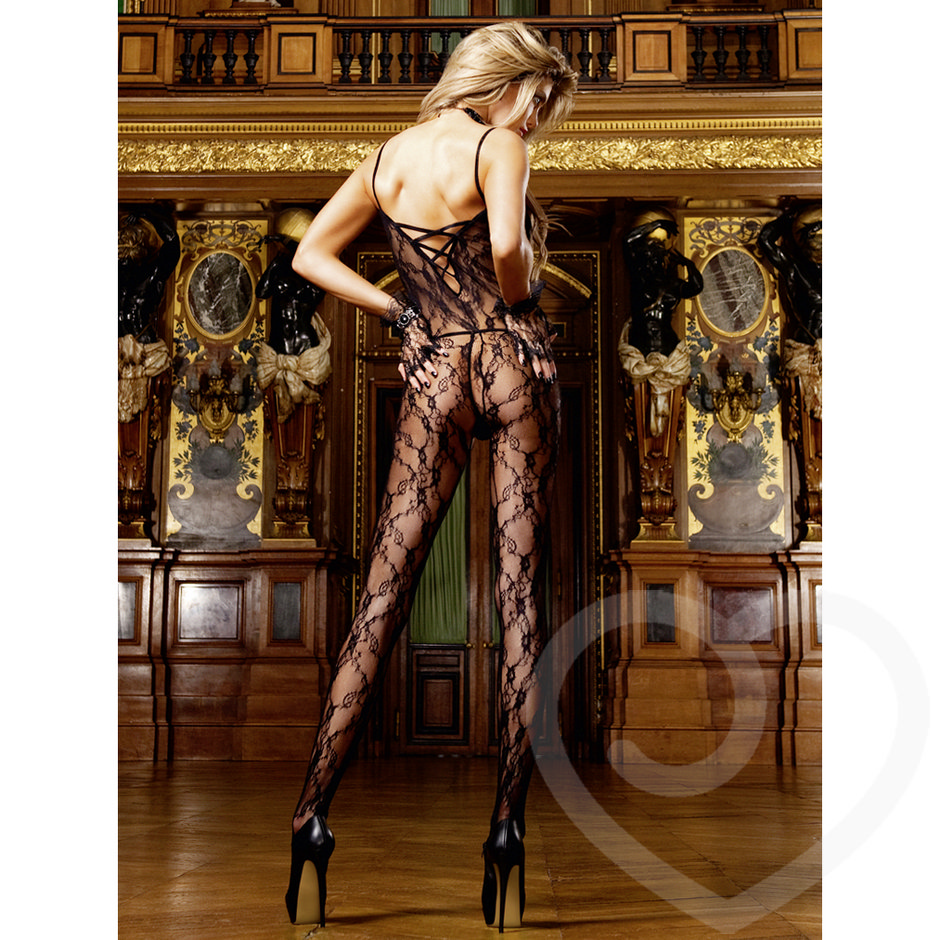 Baci Lingerie Flower Lace Bodystocking