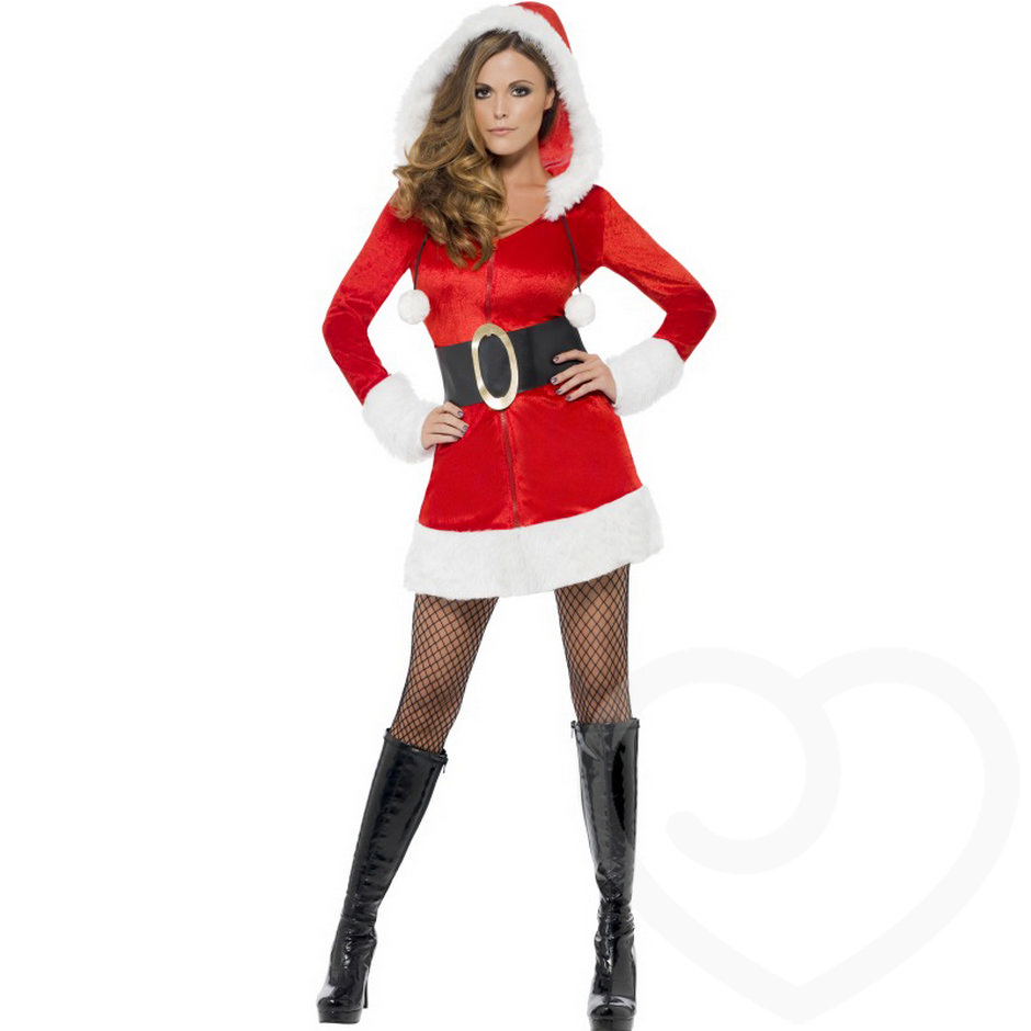 Fever Sexy Santa Dress with Hood