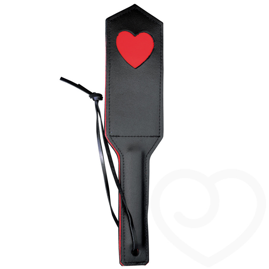 DOMINIX Deluxe Leather Heart Spanking Paddle