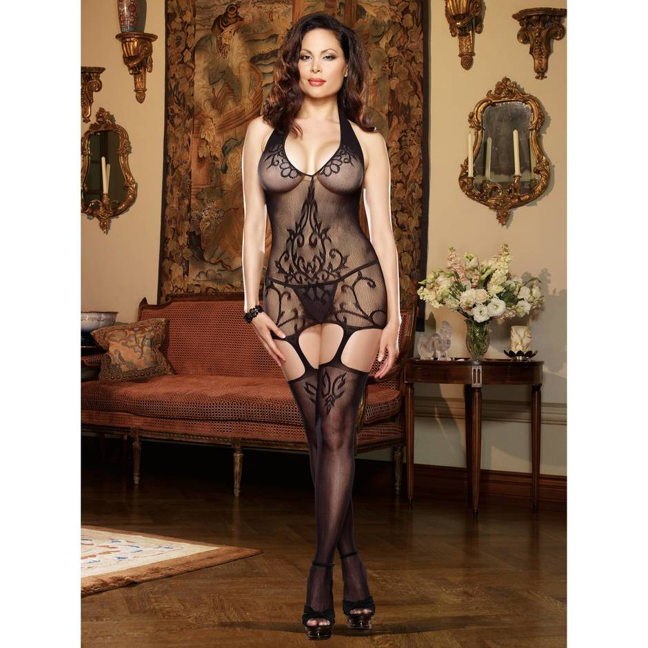 Dreamgirl Plus Size Olympia Sheer Bodystocking