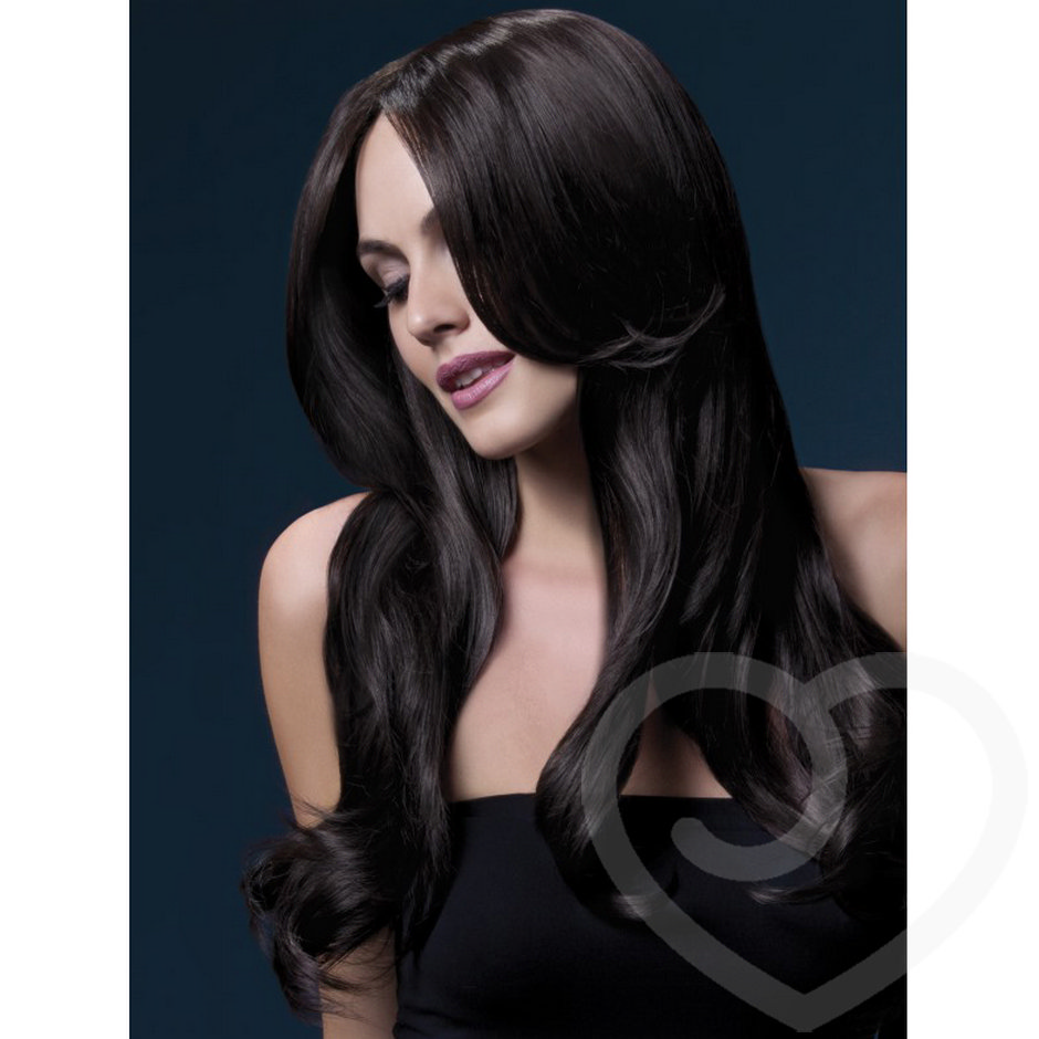 Fever Khloe 26 Inch Long Brown Wavy Wig with Centre Parting