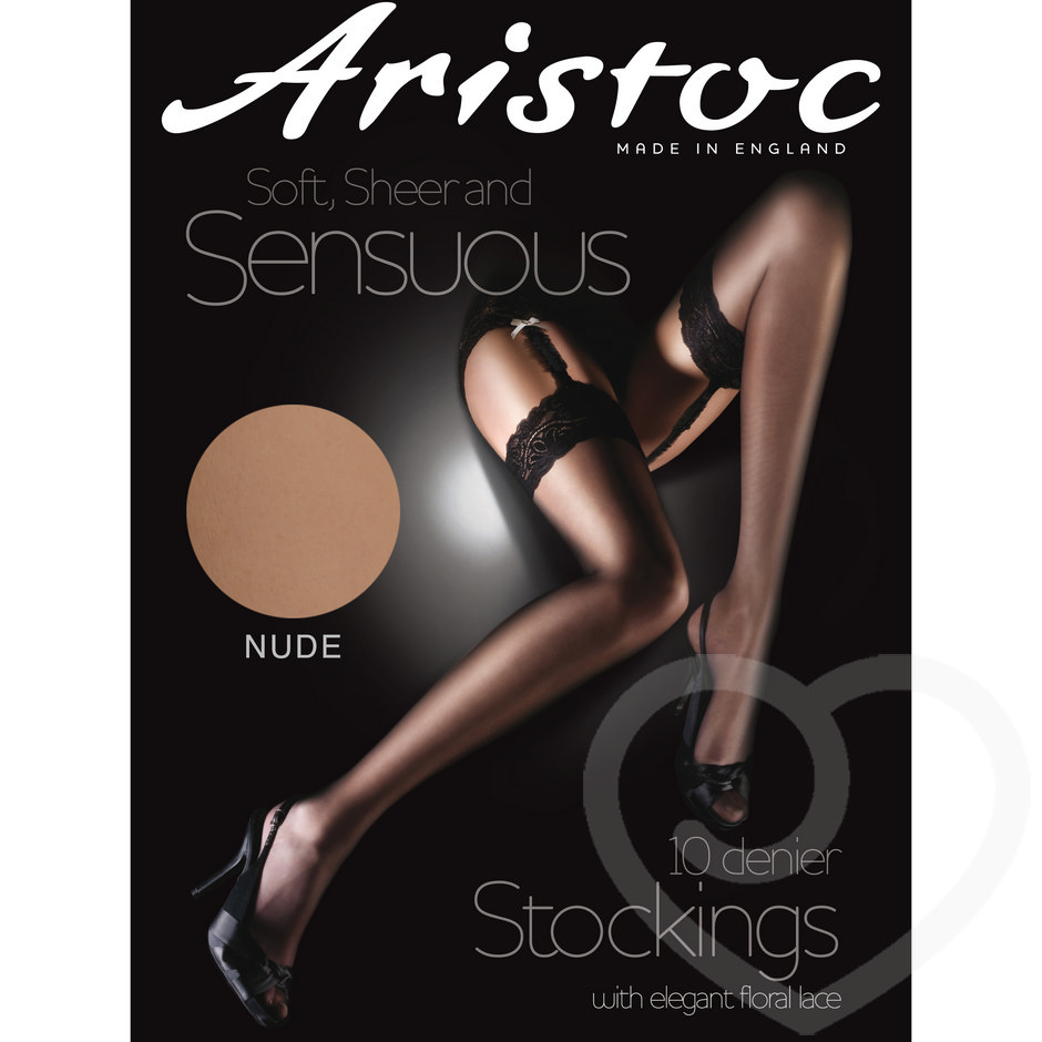 Aristoc Sheer Luxury 10 Denier Nude Lace Top Stockings