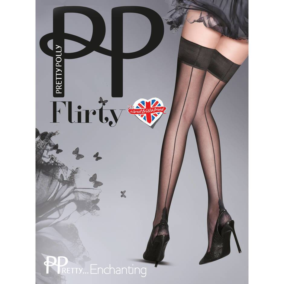 Pretty Polly Flirty Enchanting Back Seam Hold Ups