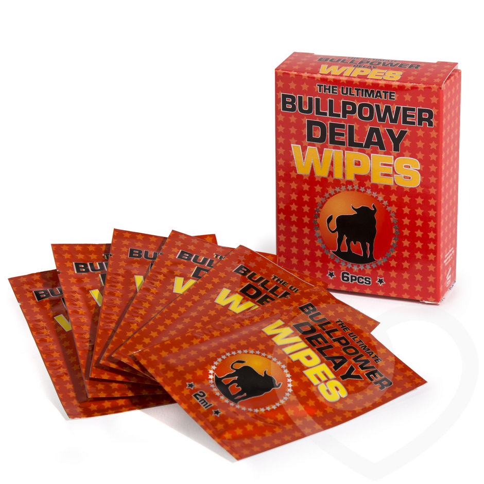 Bull Power Delay Wipes for Men  (6 Pack)