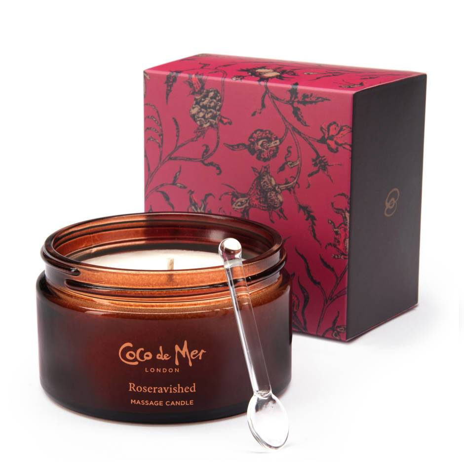 Coco de Mer Roseravished Massage Candle 200g