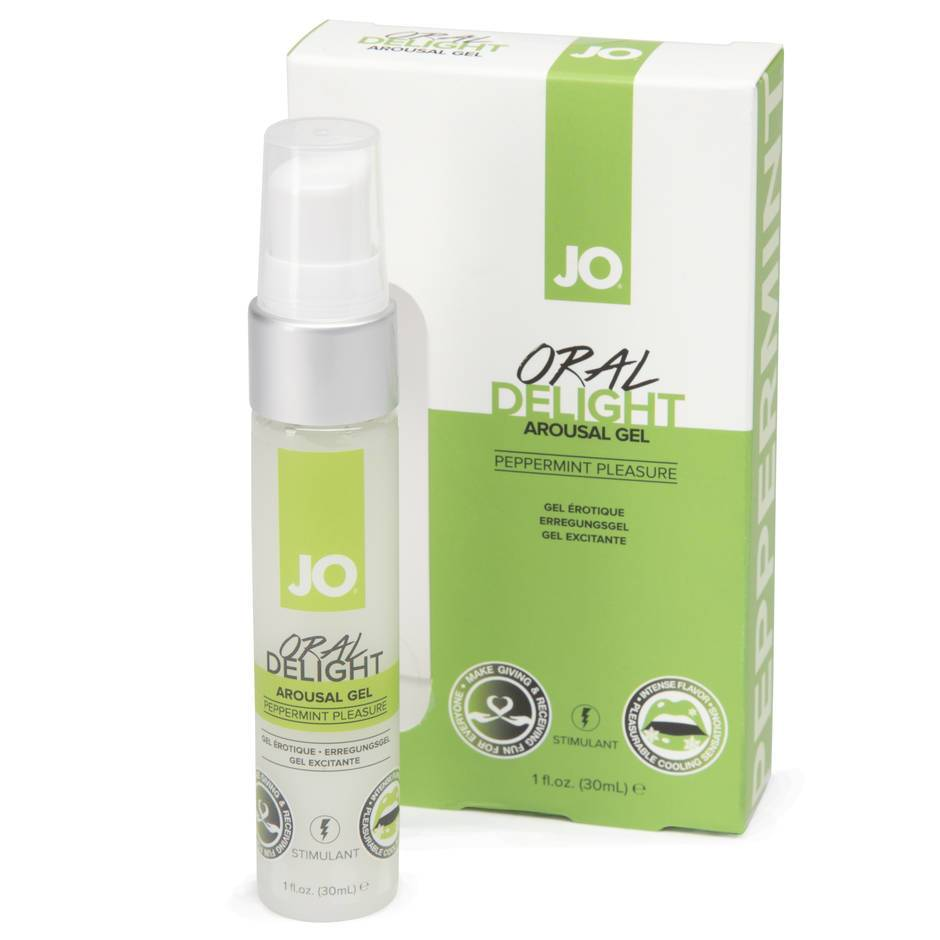 System JO Oral Delight Peppermint Arousal Gel 1. fl. oz