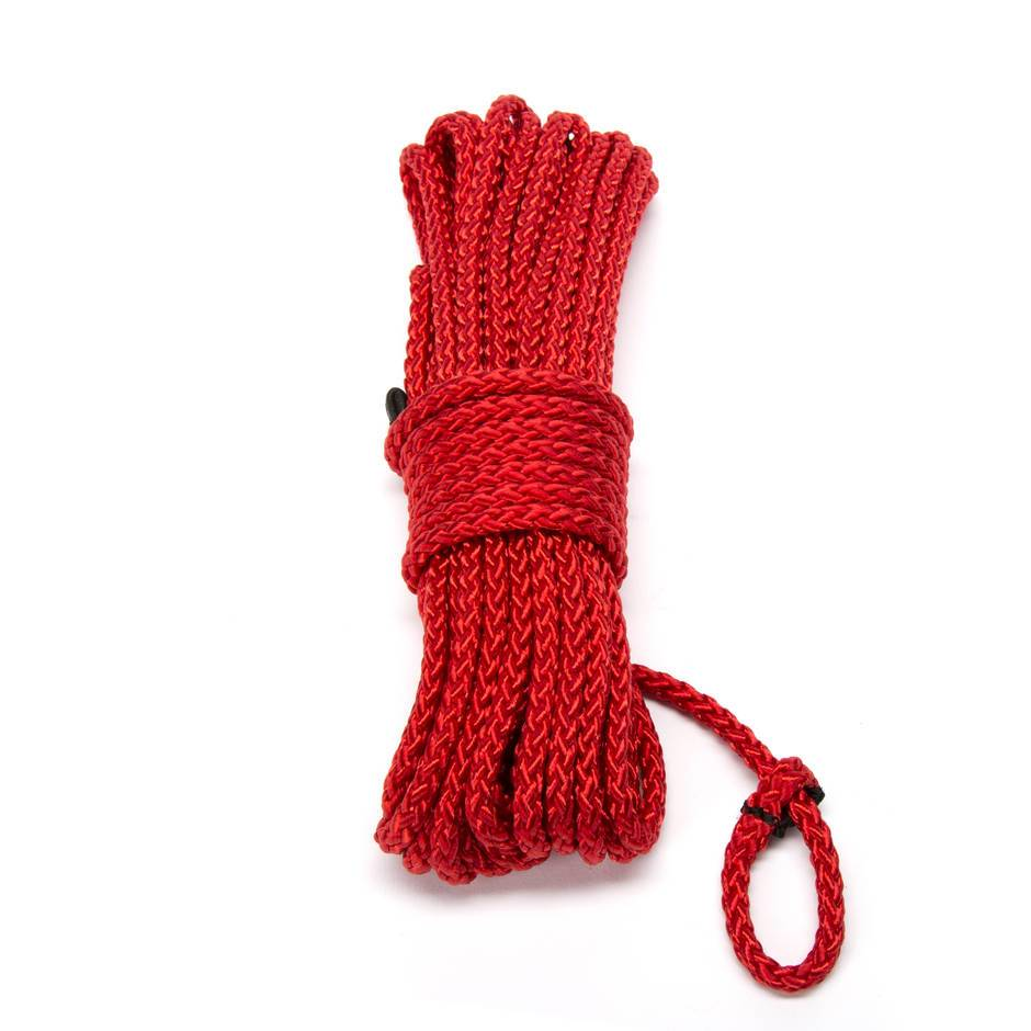 DOMINIX Deluxe Silky Bondage Rope Red 10 Meter