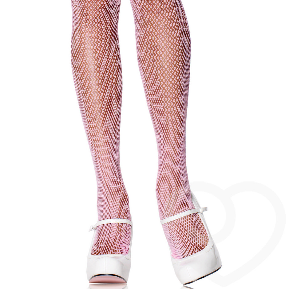 pink fishnet pantyhose