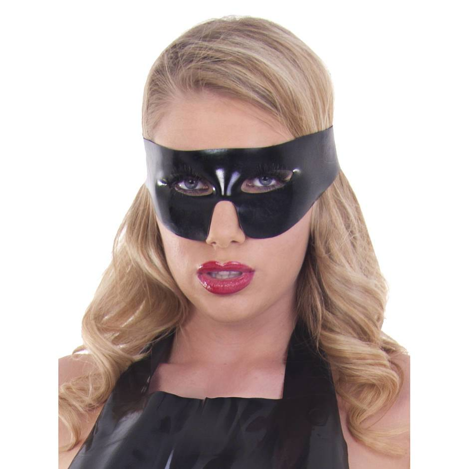 Rubber Girl Zorro Latex Mask