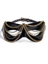 Paul Seville Black Snakeskin Chain Veil Mask