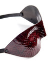 Paul Seville Red Wine Snakeskin Peephole Mask