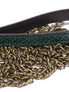Paul Seville Green Snakeskin Lead