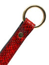 Paul Seville Red Snakeskin Split Tawse Strap