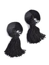 Coco de Mer Black Sequin Nipple Tassels